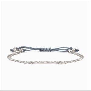 New Stella and Dot Pave Wishing Bracelet in silver